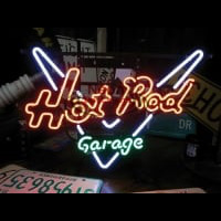 GARAGE HOT ROD Enseigne Néon