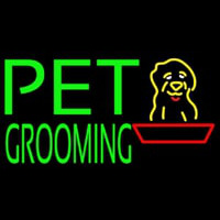 Green Pet Grooming Block 1 Enseigne Néon
