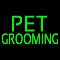 Green Pet Grooming Block 2 Enseigne Néon