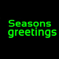 Green Seasons Greetings Enseigne Néon