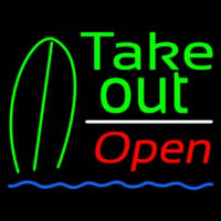 Green Take Out Bar Open Enseigne Néon