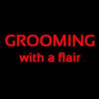 Grooming With A Flair Enseigne Néon