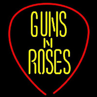 Guns N Roses Guitar Pick Rock Band Enseigne Néon
