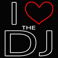I Love The Dj Enseigne Néon