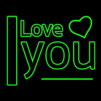 I Love You Green Enseigne Néon