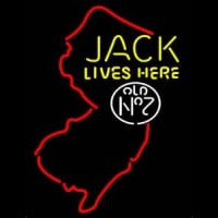 Jack Daniels Jack Lives Here New Jersey Whiskey Enseigne Néon