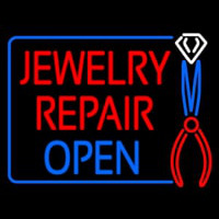 Jewelry Repair Open Block Enseigne Néon