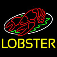 Lobster Block With Logo Enseigne Néon