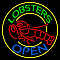 Lobsters Open Enseigne Néon