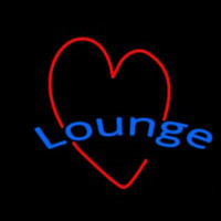 Lounge With Heart Enseigne Néon