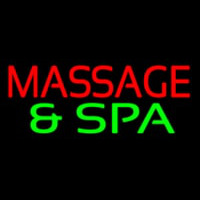 Massage And Spa Enseigne Néon