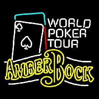 Michelob Amber Bock World Poker Tour Enseigne Néon