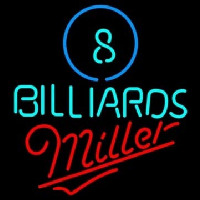 Miller Ball Billiards Pool Beer Enseigne Néon