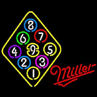 Miller Ball Billiards Rack Pool Enseigne Néon