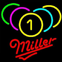 Miller Billiards Rack Pool Enseigne Néon