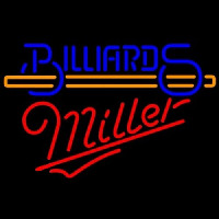 Miller Billiards With Stick Pool Enseigne Néon