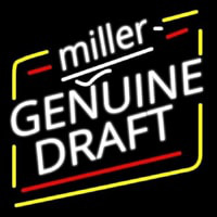 Miller Genuine Draft Beer Enseigne Néon