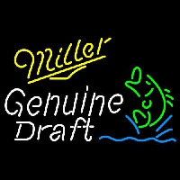 Miller Genuine Draft Blinking Fish Beer Sign Enseigne Néon