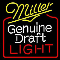 Miller Genuine Draft Golden Gate Bridge Wide Enseigne Néon