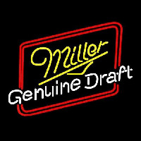 Miller Genuine Draft Hollywood Beer Sign Enseigne Néon