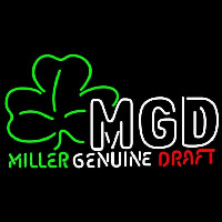 Miller Genuine Draft Shamrock Beer Sign Enseigne Néon