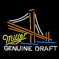 Miller Golden Gate Bridge Beer Sign Enseigne Néon