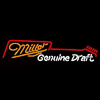 Miller Guitar Beer Sign Enseigne Néon