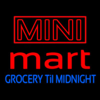 Mini Mart Groceries Till Midnight Enseigne Néon