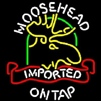 Moosehead Moose Imported On Top Enseigne Néon