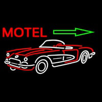 Motel Arrow With Car Logo Enseigne Néon
