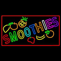 Multi Colored Double Stroke Smoothies Enseigne Néon