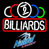 Natural Light Ball Billiards Te t Pool Beer Sign Enseigne Néon