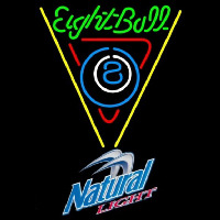 Natural Light Eightball Billiards Pool Beer Sign Enseigne Néon