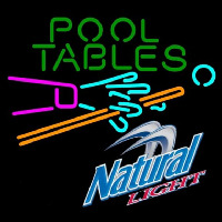 Natural Light Pool Tables Billiards Beer Sign Enseigne Néon