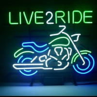New Harley Motorcycle Love 2 Ride Ride Em Hard Neon Bière Bar Pub Enseigne