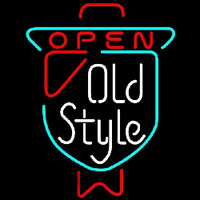 Old Style OPEN Beer Sign Enseigne Néon