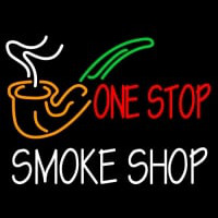 One Stop Smoke Shop Enseigne Néon