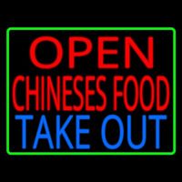 Open Chinese Food Take Out Enseigne Néon