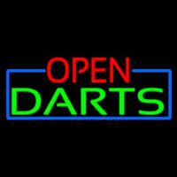 Open Darts With Blue Border Enseigne Néon