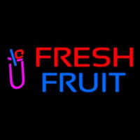 Oval Fresh Fruit Smoothies Enseigne Néon