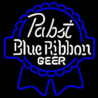 Pabst Blue White Ribbon Beer Sign Enseigne Néon