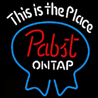 Pabst Light This is the Place Beer Sign Enseigne Néon