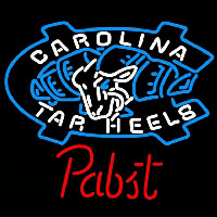 Pabst Unc North Carolina Tar Heels Beer Sign Enseigne Néon