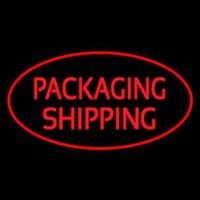 Packaging Shipping Oval Red Enseigne Néon