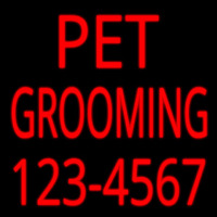 Pet Grooming With Phone Number Enseigne Néon