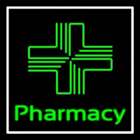 Pharmacy With Plus Logo Enseigne Néon