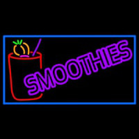 Purple Double Stroke Smoothies Enseigne Néon