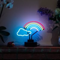 Rainbow Cloud Desktop Enseigne Néon