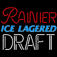 Rainier Ice Lagered Draft Beer Sign Enseigne Néon