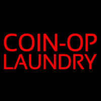 Red Coin Op Laundry Enseigne Néon